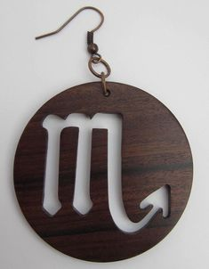 Handmade Luxury wooden jewellery scorpio zodiac earrings BOLIVIAN rosewood #Handmade