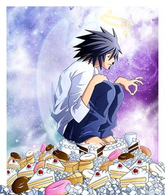 Is This What Heaven is Like?  death note♥L  At least you can have all the sugar you want now, L.