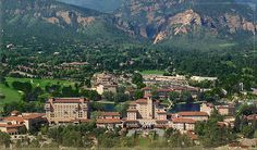The Broadmoor Resort - Colorado Springs, CO  http://www.broadmoor.com/colorado-springs-resort/  Horseback riding and Spas too.