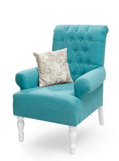 """ΠΟΛΥΘΡΟΝΑ """"FLORA"""" ΤΥΡΚΟΥΑΖ Accent Chairs, Flora, Armchair, Furniture, Home Decor, Upholstered Chairs, Sofa Chair, Single Sofa, Decoration Home"""