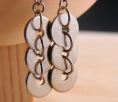 Dangle Drop Earring Geometric Hardware Jewelry Industrial Hardware