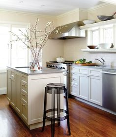 I love the ledge that surrounds the window -- very practical, especially in a small kitchen.