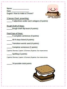 S'more Writing Activity