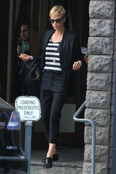 Charlize Theron Stops for Lunch in LA