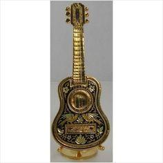 Damascene Gold Miniature Guitar by Midas of Toledo Spain style 2755Guitar on eBid United States