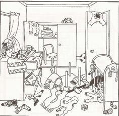 untidy room cartoon - Google Search