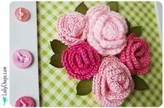 DIY Crochet Flowers: DIY Crochet Flowers DIY Crafts :Wall Flowers Week - Finally Fuschia Friday!