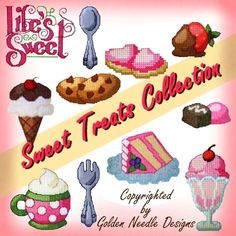 Sweet Treats Collection - Food Machine Embroidery Designs