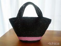 Marche BagSize/MColor/Base Black, Pink lines