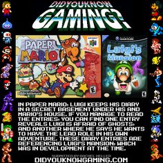 Did You Know Gaming? Paper Mario, http://www.youtube.com/watch?v=cnhw_fWS3Q0
