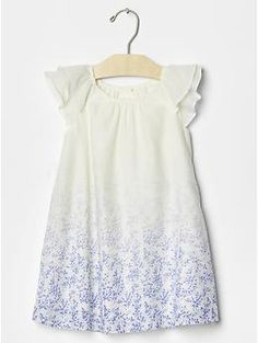 Floral ombre flutter dress: $39.95, available in sizes 12 months to 5 years. Gap Kids & Baby Gap: $$, local Cville franchise