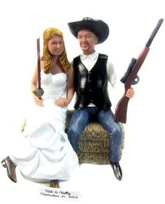 Country Wedding Cake Topper customized to look like you