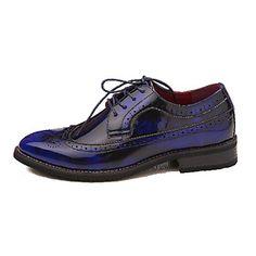 zapatos de los hombres de confort del dedo del pie cerrado oxfords de cuero talón plano de los zapatos más colores disponibles – EUR € 54.99
