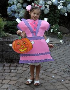 This Paperdoll Costume featured at Dollar Store Crafts in 2010 is so adorable that even Pottery Barn Kids knocked it off this 2012 season!
