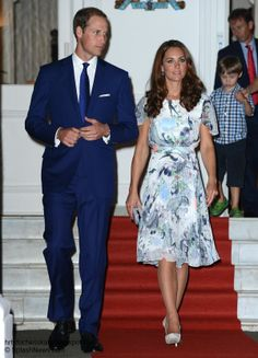 Kate the duchess of Cambridge: Asian Royal Tour Day 2 - Kate wear Erdem for the Eden Hall Reception