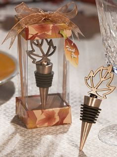 Autumn Leaf Bottle Stopper from Wedding Favors Unlimited