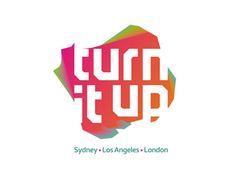 Turn It Up logo design by Alex Tass
