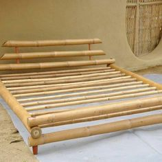 """Furniture Bamboo King Size Bed Use the promo code """"PINME"""" for up to 40 … - Modern Bamboo Furniture, Home Decor Furniture, Furniture Design, Bamboo Art, Bamboo Crafts, Bamboo Bed Frame, Bamboo Building, Bamboo Architecture, Bamboo House"""
