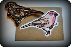 Hand Carved Bird Rubber Stamps Wee Share