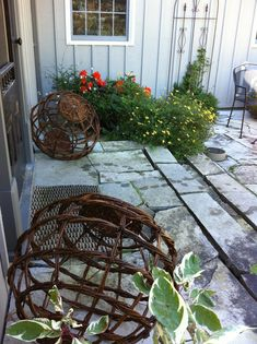 Garden globes.