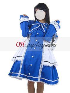 Rozen Maiden Lolita Blue Cosplay Costume