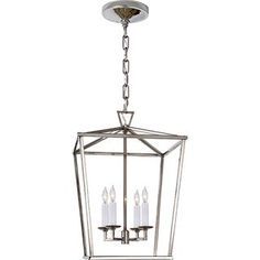 18 high, 12 wide Darlana Small Lantern in Aged Iron Island Pendant Lights, Lantern Pendant, Pendant Lighting, Island Lighting, Visual Comfort, Small Lanterns, Polished Nickel, Light Fixtures, Foyer