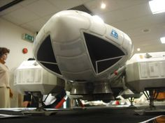"""Command module details from original 44"""" studio model of Eagle spacecraft from the television series Space: 1999."""