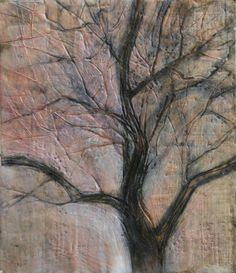 Tree Encaustics by Mary Moquin #UMassDartmouth #Alumni