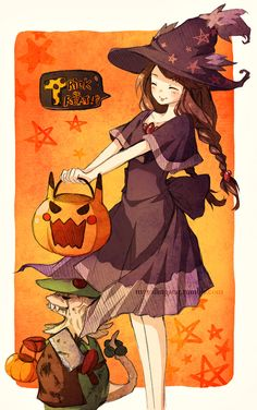 Say trick or treat this witch gonna have some candys... Her name is Stefanie and she love Hallowen.. Boooo<3