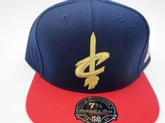 pretty nice 3b6b7 e0403 Cleveland Cavs Jordan 6 Retro NBA Mitchell   Ness Hi Crown Fitted Hat Cap  7-3 4 for sale online   eBay