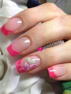 Fancy Nails, Pink Nails, Cute Nails, Pretty Nails, Cute Nail Art Designs, Nail Polish Designs, Acrylic Nail Designs, Beautiful Nail Art, Gorgeous Nails
