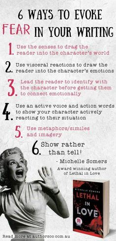 How to evoke fear in your writing