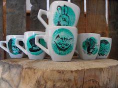 ZESTAW ALICJA W KRAINIE CZARÓW Mugs, Tableware, Art, Art Background, Dinnerware, Tumblers, Tablewares, Kunst, Mug