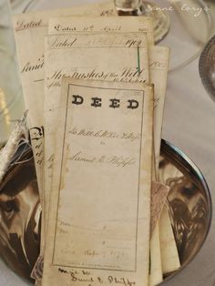 Deeds and other court records - treasure trove
