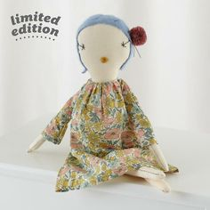 Inspired by textiles, Jess Brown began making dolls for her children over 13 years ago using old cashmere sweaters and antique remnants. Best of all, each beautiful rag doll is completely hand-made, unique and cut to order using bright seasonal fabrics, natural linens and vintage lace.