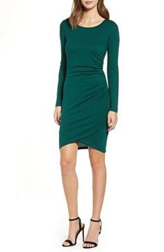 43658faae59dc LEITH Designer Ruched Long Sleeve Dress Fall Outfits, Dress Outfits, Cute  Outfits, Fashion