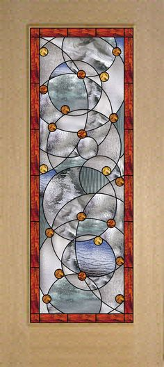 "Magnificent ""Circles & Arches "" Stained Glass door! $1,199.00 plus shipping Beautiful custom  & stock made stained glass doors  for interior or exterior use.  All of our patterns our designed in-house and we also welcome custom designs and logos.   All of our stained glass panels are sealed in between two pieces of clear impact resistant glass.  We also make stained glass windows and cabinet inserts... Email for a quote today!   Stainedg@aol.com  http://stainedglasswindows.com/  619 575-2904"