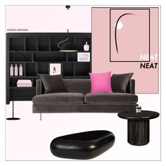 """NEAT"" by rainie-minnie ❤ liked on Polyvore featuring interior, interiors, interior design, home, home decor, interior decorating, Home Decorators Collection, Valfré, Galet and Gubi"