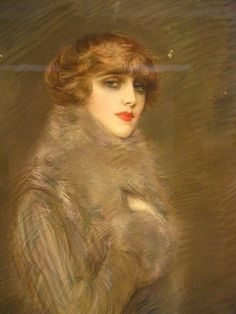 Portrait de Mme Ryan, née Arlette Warrain - by Paul César Helleu (French, 1859-1927) - @~ Mlle
