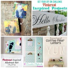 Get Your DIY On Challenge Pinterest Inspired Projects