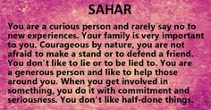 "Meaning behind my name ""Sahar"""