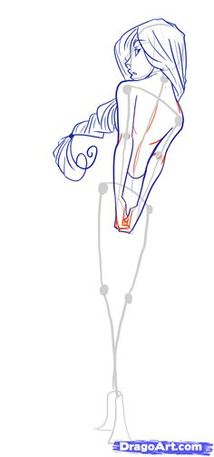 how to draw female figures, draw female bodies. Free online tutorial