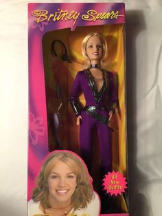 RARE Britney Spears Doll Purple Jumpsuit 12in. Speras Brittany   eBay (what i could of bought from ebay)