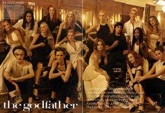 American Vogue 2009,The Godfather,  Steven Meisel - Photographer  Edward Enninful - Fashion Editor/Stylist  Grace Coddington - Fashion Editor/Stylist  Guido Palau - Hair Stylist  Pat McGrath - Makeup Artist  Mary Howard - Set Designer