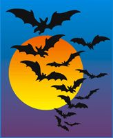 Clip art, maybe pastel shading and paper cut out bats? Halloween Art Projects, Fall Art Projects, School Art Projects, School Ideas, First Grade Art, Third Grade, Halloween Horror, Halloween Ideas, Fun Art
