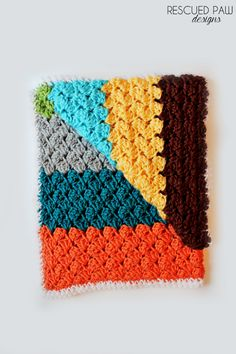 Blanket Stitch Blanket: free crochet pattern via Rescued Paw Designs