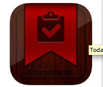 App Name- Easy Assessment I would use this app to keep track of students through out assessments that are given by having video of them whether they are struggling or succeeding with different assessments that are given to them.