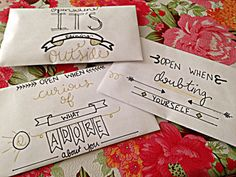 Open When Letters by TheDelicateDinosaur                                                                                                                                                     More