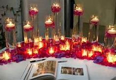 purple red wedding, guest book table - Bing Images