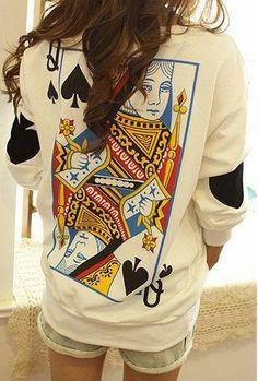 Women's Queen Sweatshirt (cut the front & zipper to make a jacket)